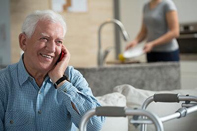 senior-on-phone